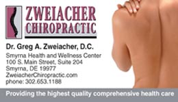 Middletown Chiropractic card