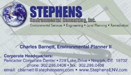 Stephens Environmental Consulting Card