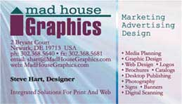 MAD House Graphic's Card