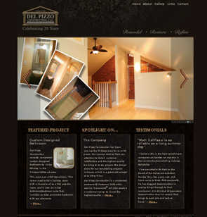 delpizzoconstruction.com screenshot